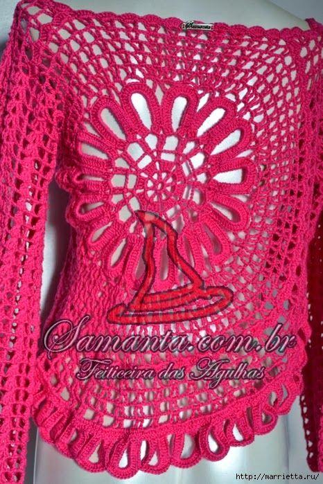 crochelinhasagulhas: Blusa de crochê da Ana Maria Braga