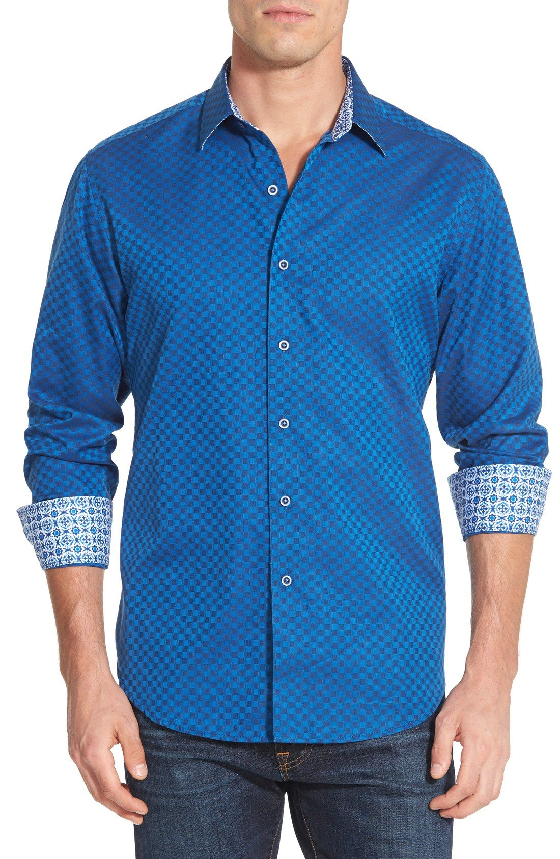 Robert Graham Delvin Classic Fit Sport Shirt Mens Casual Outfits Designer Clothes For Men Mens Clothing Styles