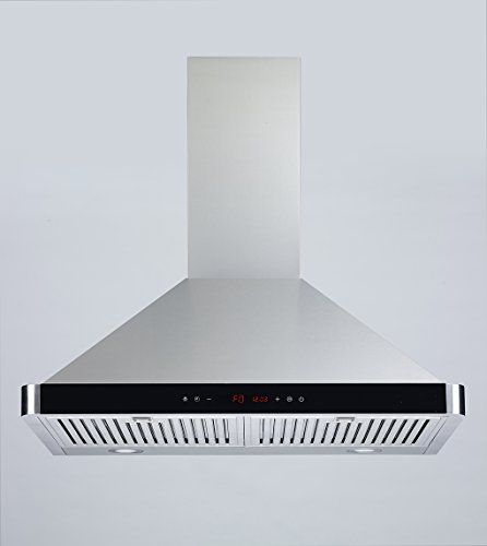 "FIREBIRD New 30"" European Style Wall Mount Stainless Steel Range Hood Vent. Something like this but paint it black and add gold/copper accent."