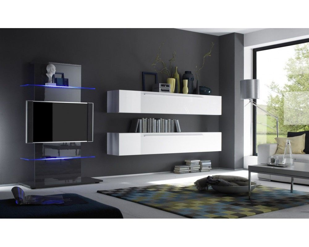 Meuble Tele Etagere Design -  Tourdissant Meuble Design Tele D Coration Fran Aise Pinterest [mjhdah]https://mobiliernitro.com/25673-big_default/meuble-tv-mural-design-lumineux-petra-colonnes-verticales-meuble-tv-etageres-verres-melmines.jpg