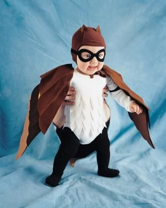 Owl costume tutorial for Halloween... This was D's first Halloween costume :)