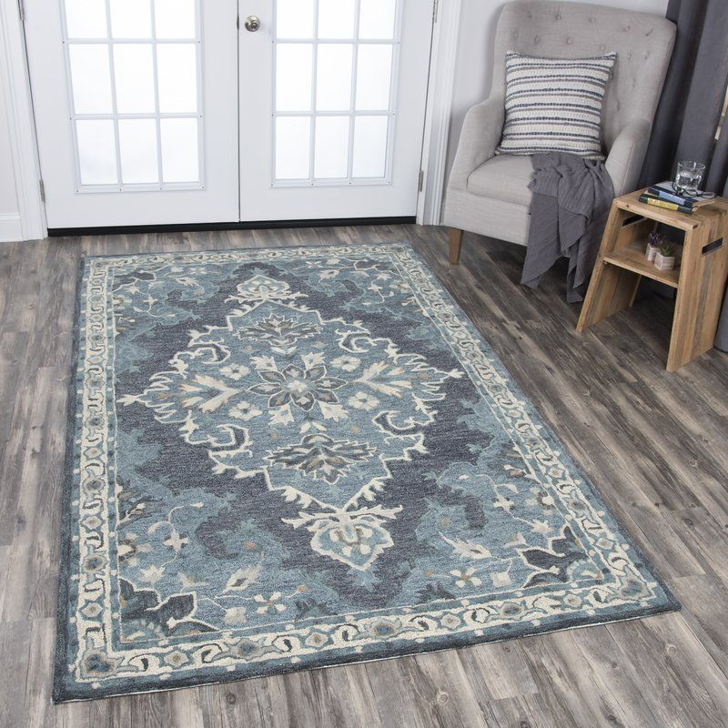 Polen Hand Tufted Dark Gray Area Rug Dark Gray Area Rug Area Rugs Grey Area Rug