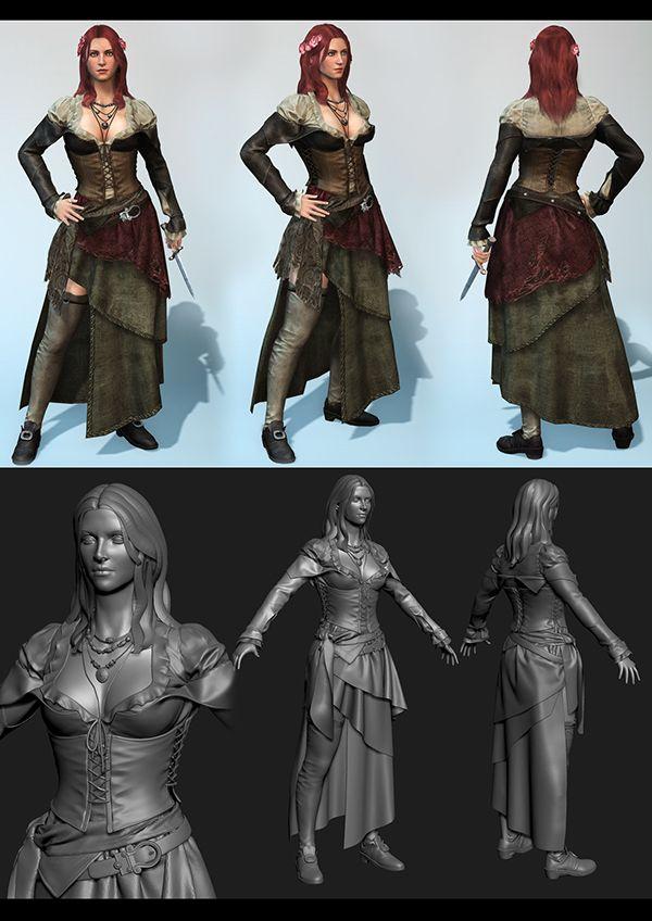Anne Bonny Assassins Creed Black Flag By Marthin Agusta Via