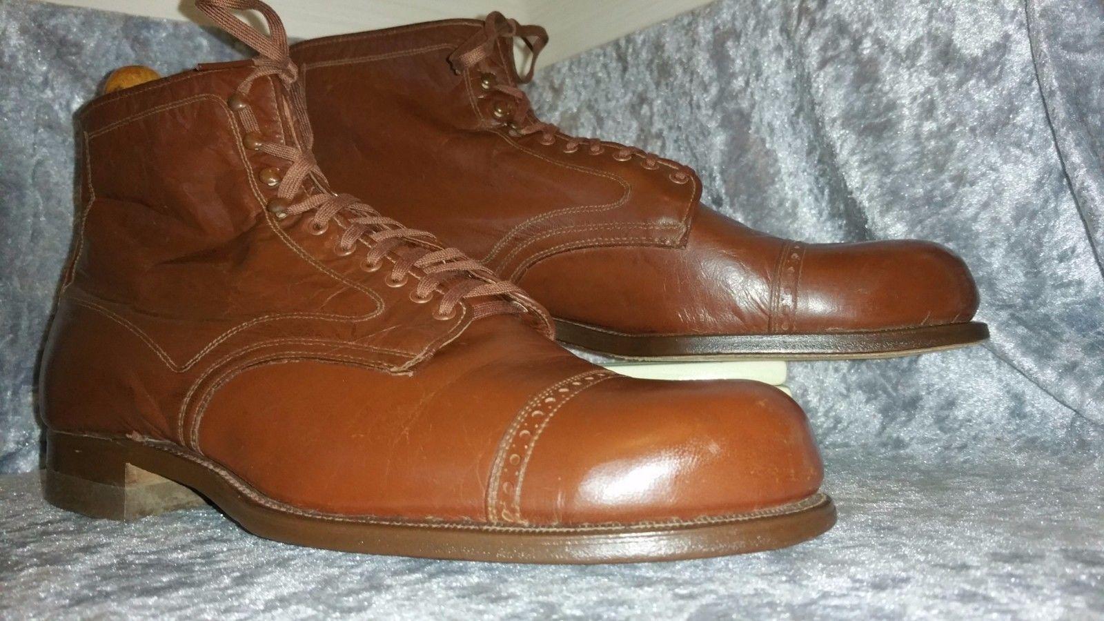1940 50s CARTER Kidskin US 9.5 D VTG mens shoes Boots   Clothing, Shoes & Accessories, Vintage, Men's Vintage Shoes   eBay!