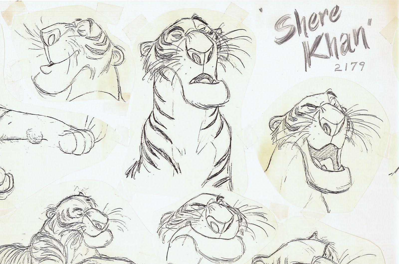 "Disney Character Design Books : ""the jungle book walt disney animation studios"