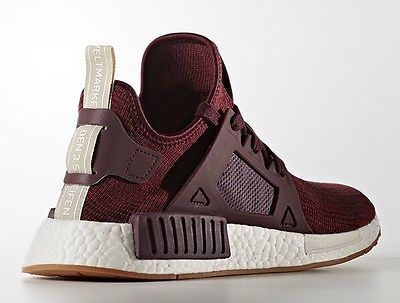 Adidas NMD XR1 Maroon Shoes New Primeknit Women's size 8.5 - Men's Size 7
