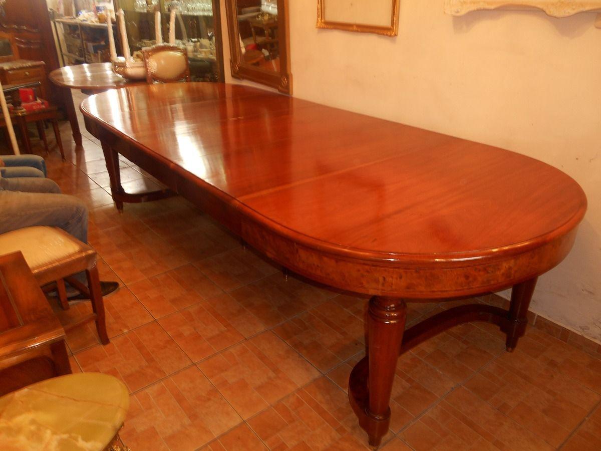 1) Antigua Mesa Comedor Inglesa 3 X 1,20metros Madera Maciza ...