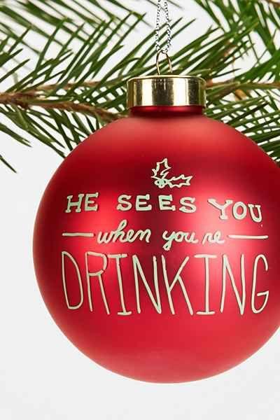 Ha Ha Holidaze Graphic Ornament - Urban Outfitters - Graphic Ornament Funny Stuff Ornaments, Christmas, Christmas