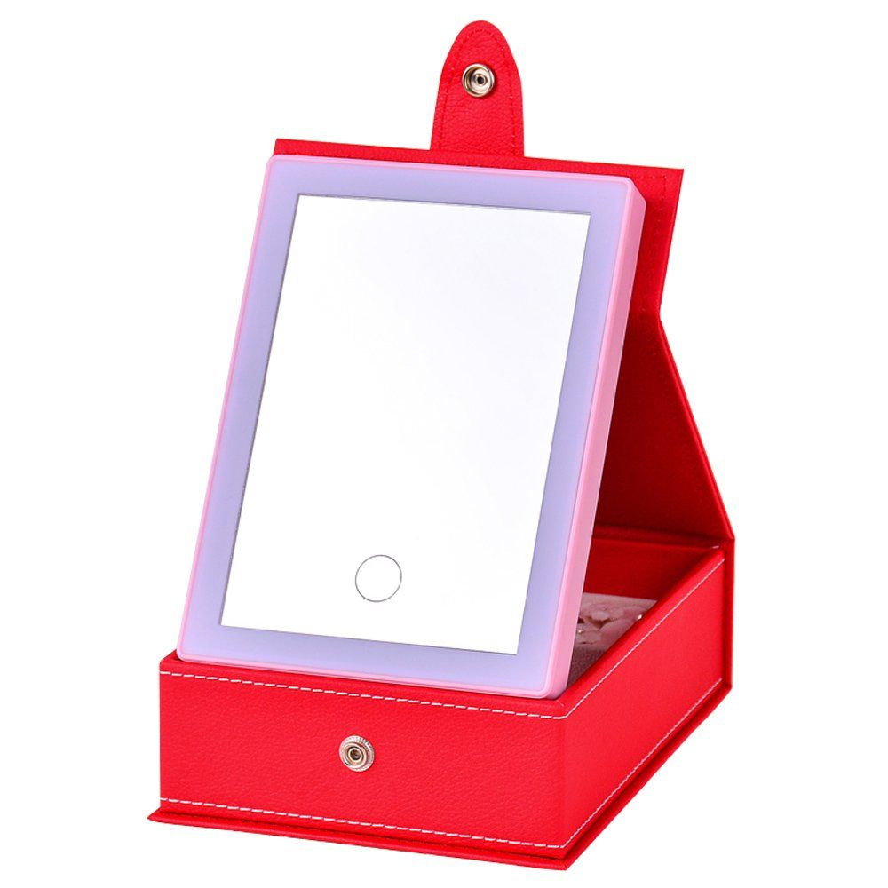 UPMSX 2 in 1 LED Lighted Makeup Mirror with Travel Jewelry ...