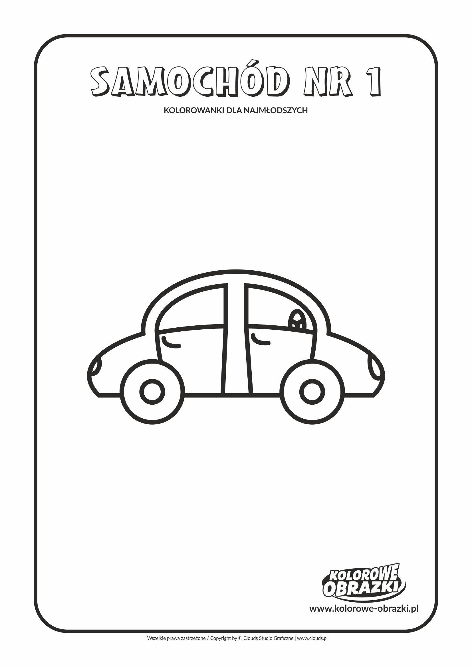 Proste Kolorowanki Dla Najmlodszych Samochod Nr 1 Kolorowanki Dla Dzieci Comics Art Peanuts Comics