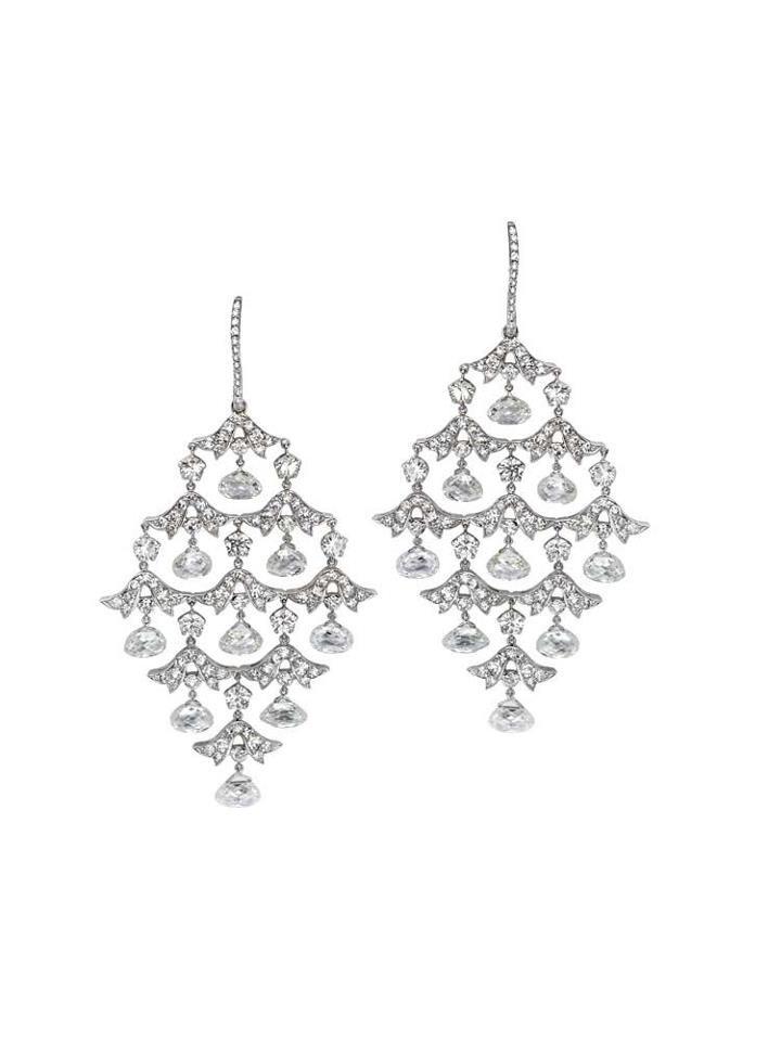 Martin Katz Diamond Palladium Chandlier Earrings With Images Diamond Tarnished Jewelry