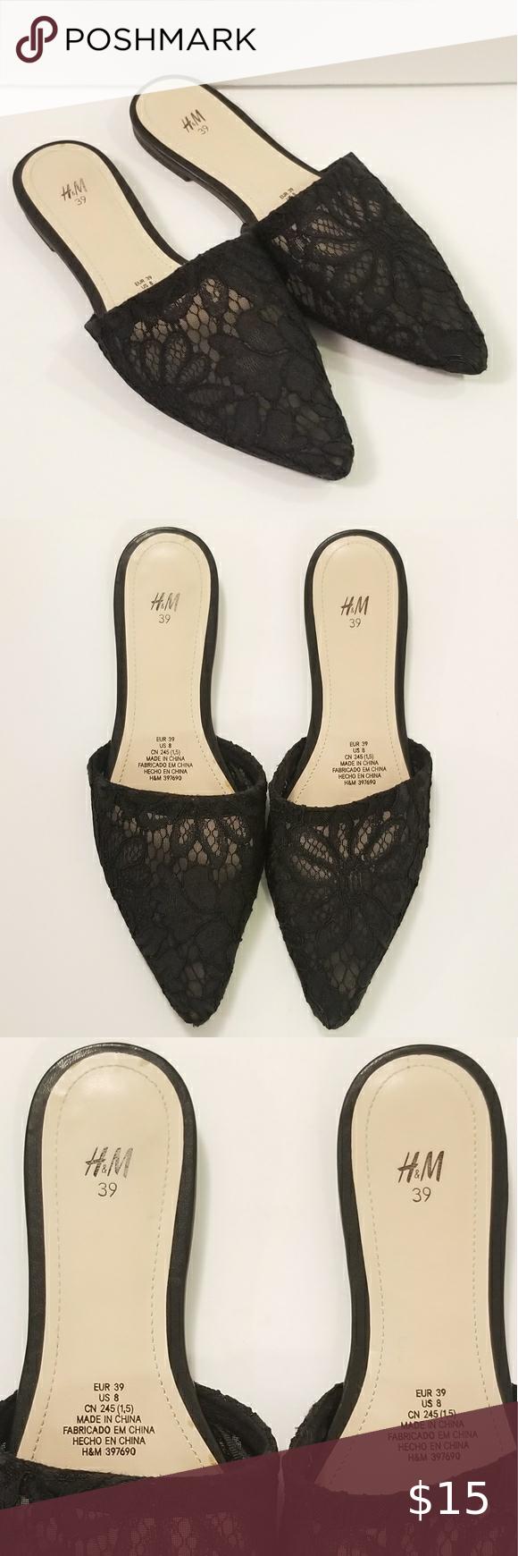 H M Black Slides In 2020 H M Shoes Black H M