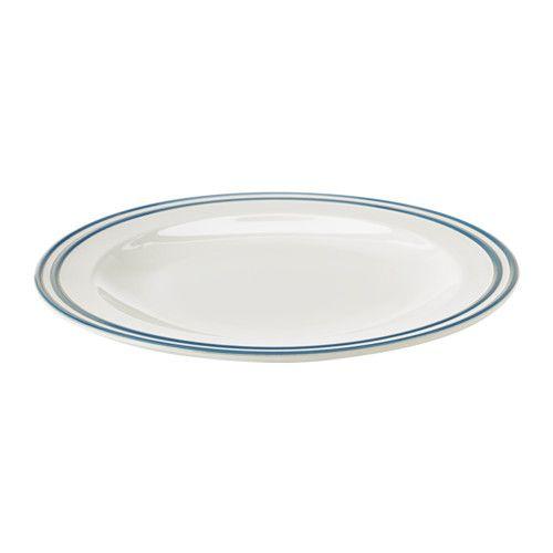 FINSTILT Plate - IKEA  sc 1 st  Pinterest & FINSTILT Plate off-white blue   Dinnerware Condos and Kitchens