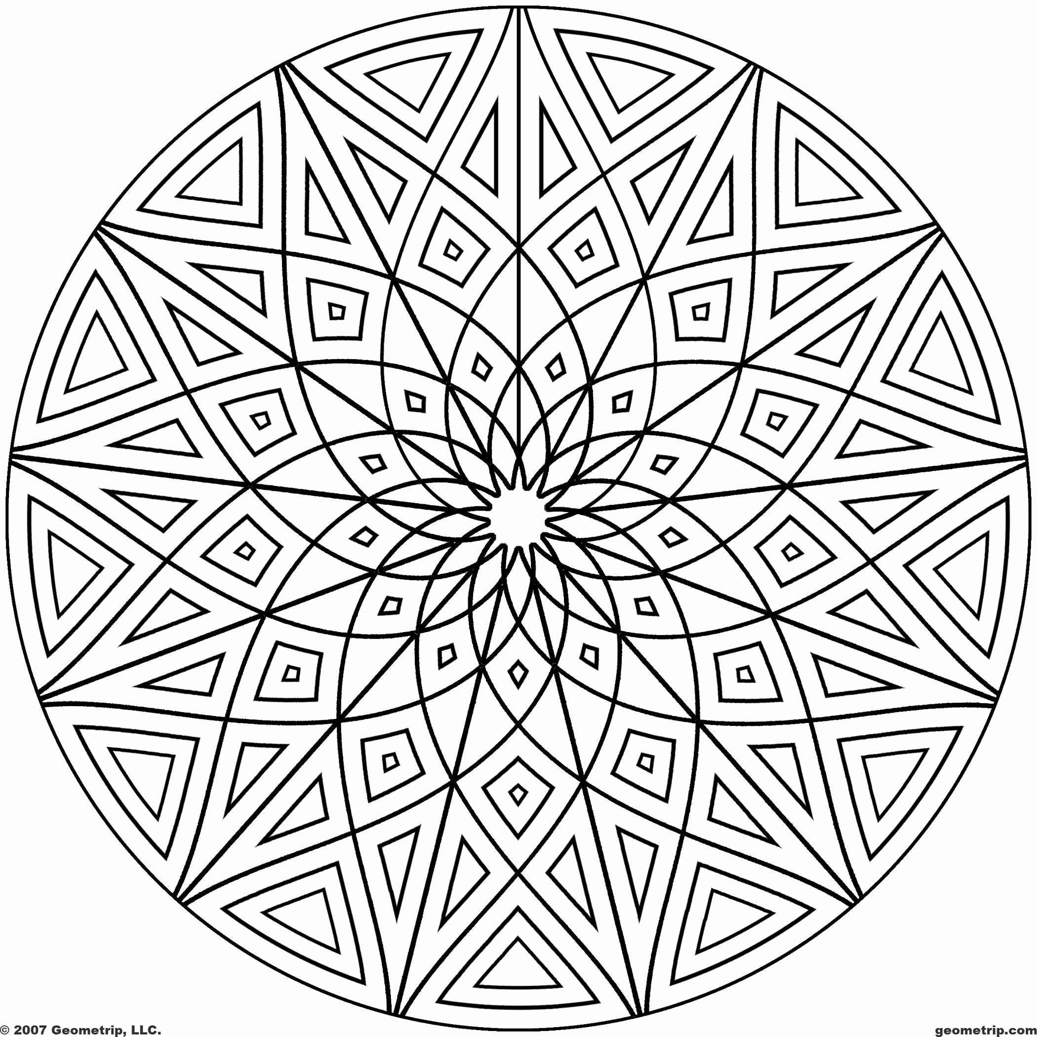 Starburst Mandala Geometric Coloring Pages Mandala Coloring Pages Cool Coloring Pages