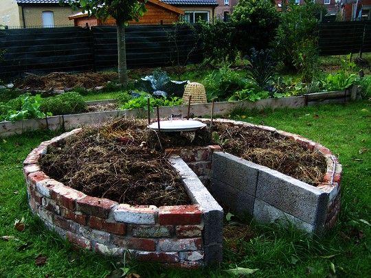 Le Keyhole Garden de mon Oasis | Permaculture | Pinterest | Jardins ...
