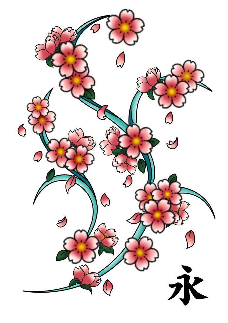 8101450e52 Sakura Tattoo. Sakura Tattoo Flores Rojas