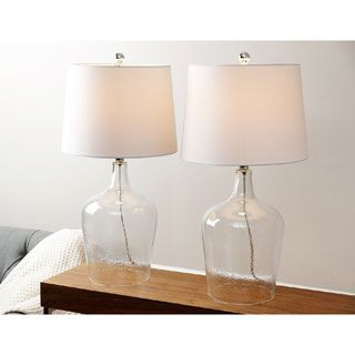 Deep gold lust table lamp clear glass table lamp table lamp sets abbyson living azure clear glass table lamp set of 2 aloadofball Gallery