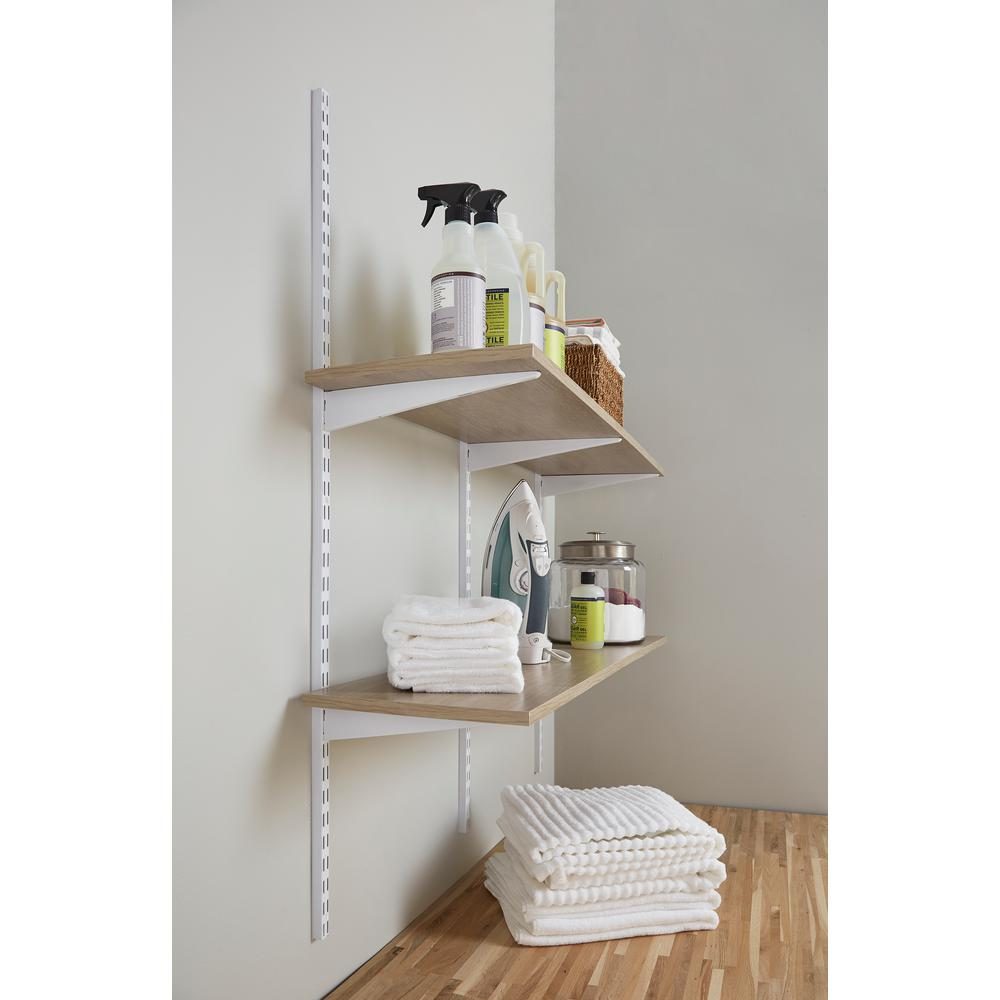 Rubbermaid 12 In X 48 In Organic Ash Laminated Wood Shelf 2110647 The Home Depot In 2020 Wood Shelves White Wood Shelves Wood Laminate