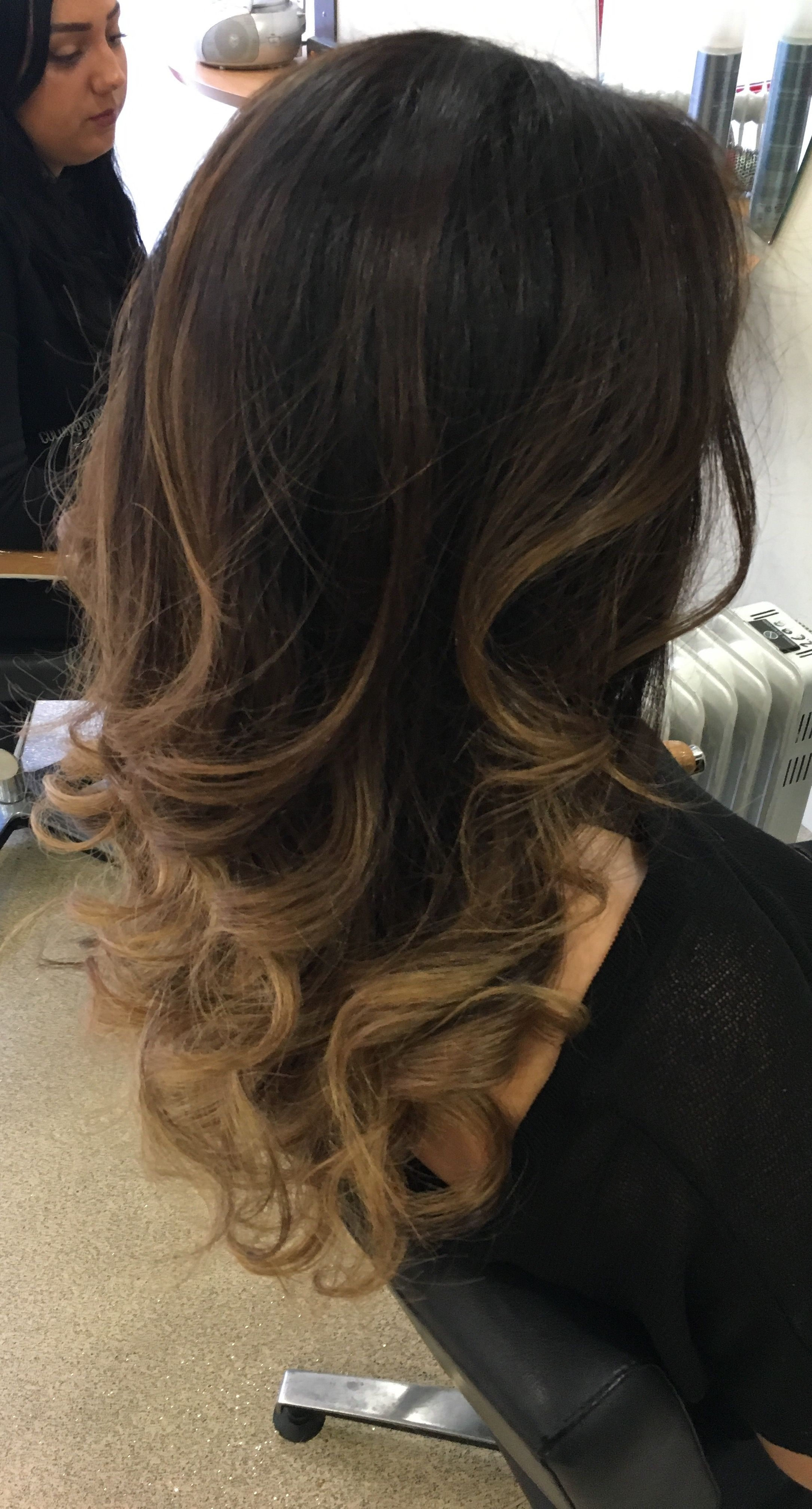 Curly blowdry hairstyles Pinterest