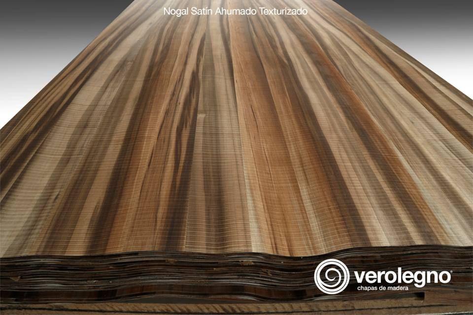 Chapa de madera natural nogal sat n ahumado texturizado de - Maderas y chapas ...