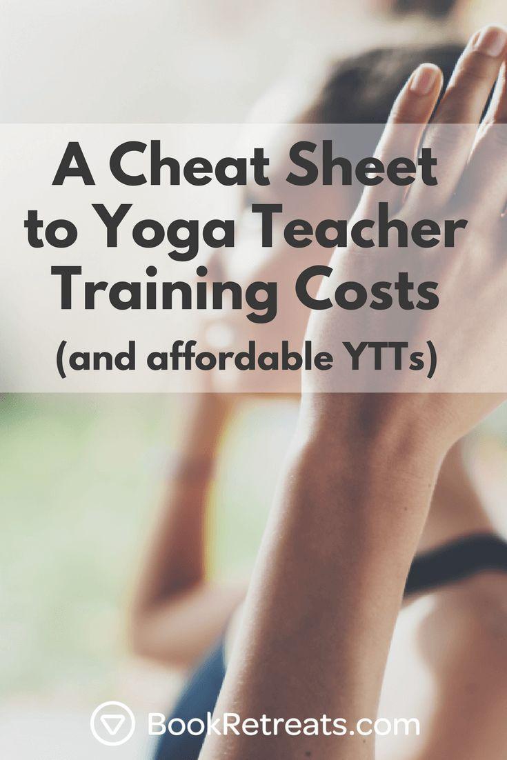Wow I had no idea what it costs to be a yoga teacher!