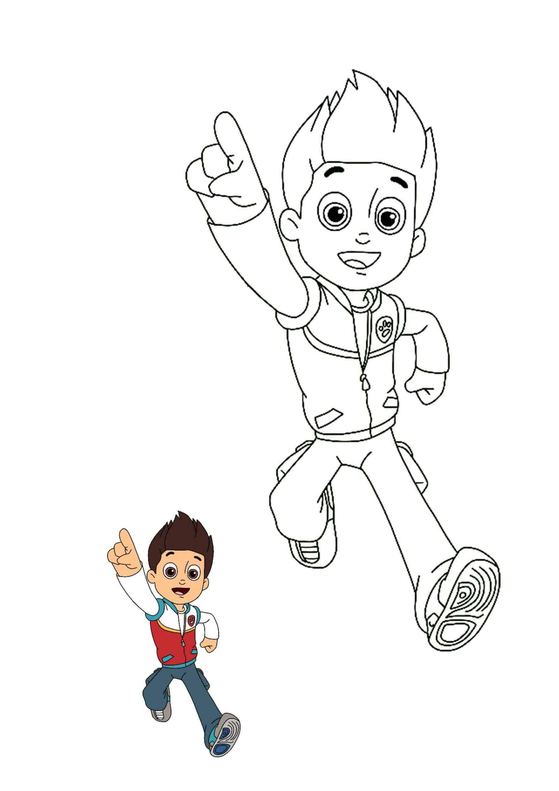 Paw Patrol Ryder Coloring Pages  Paw patrol coloring pages, Paw