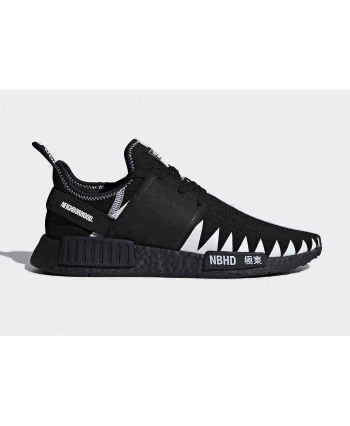 size 40 beffe e3227 Neighborhood Adidas NMD R1 All Black New Trainers Sale UK
