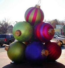 giant christmas ornaments - Giant Christmas Balls