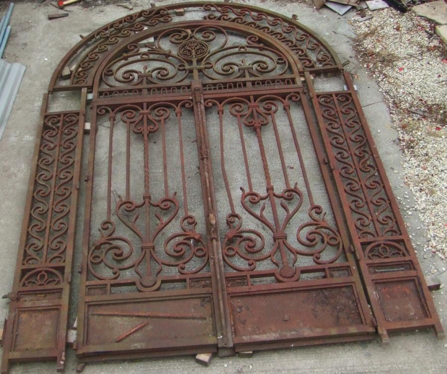 Wrought iron gates vintage antique gate