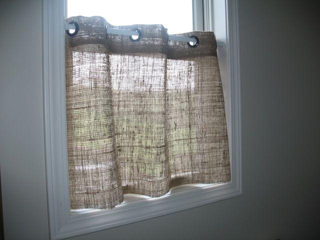 Handmade Burlap Cafe Curtains For Privacy Home Design Ideas - Cafe curtains for bathroom for bathroom decor ideas