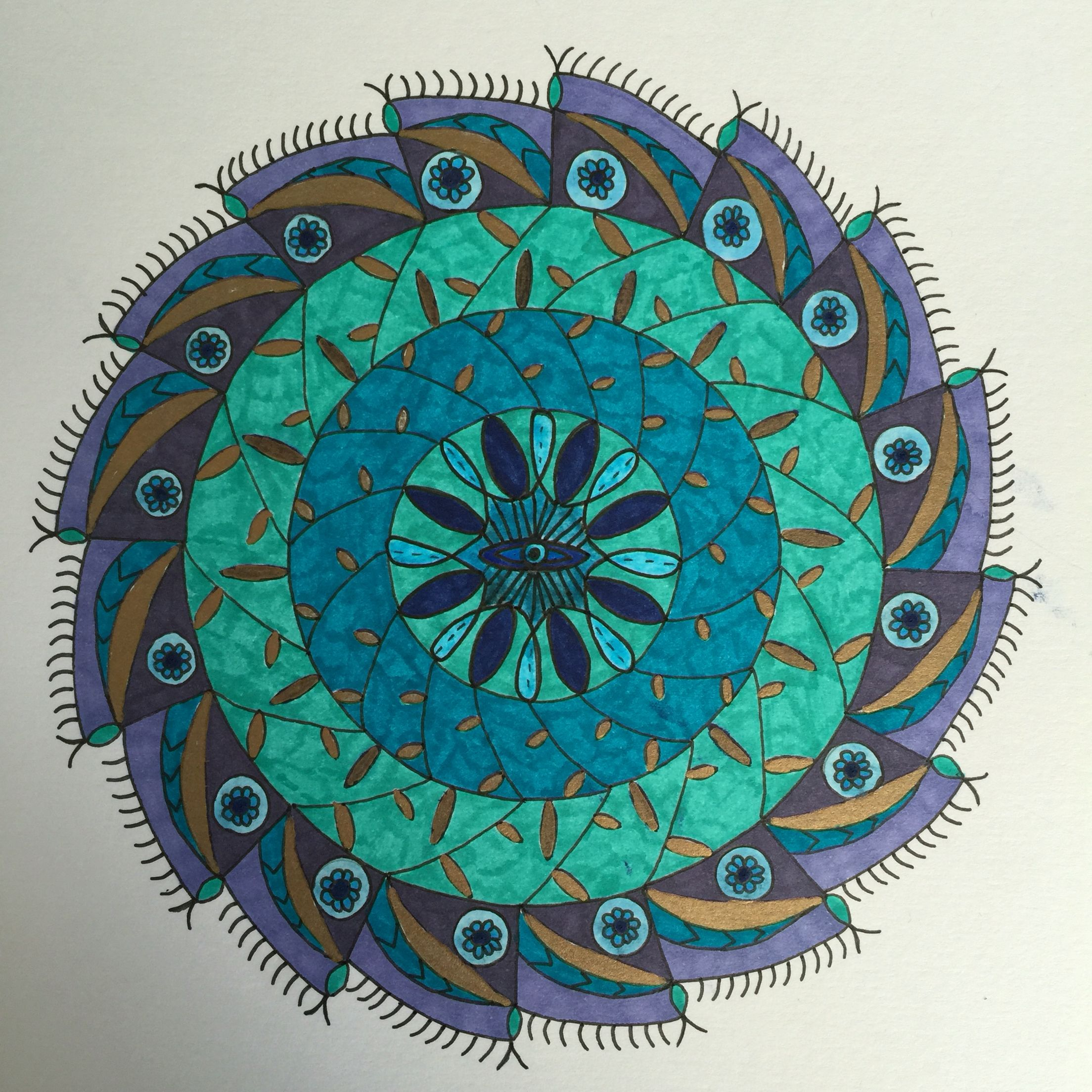 The Eye Mandala Made For Protection From The Evil Eye Mandala Coloring Pages New Color