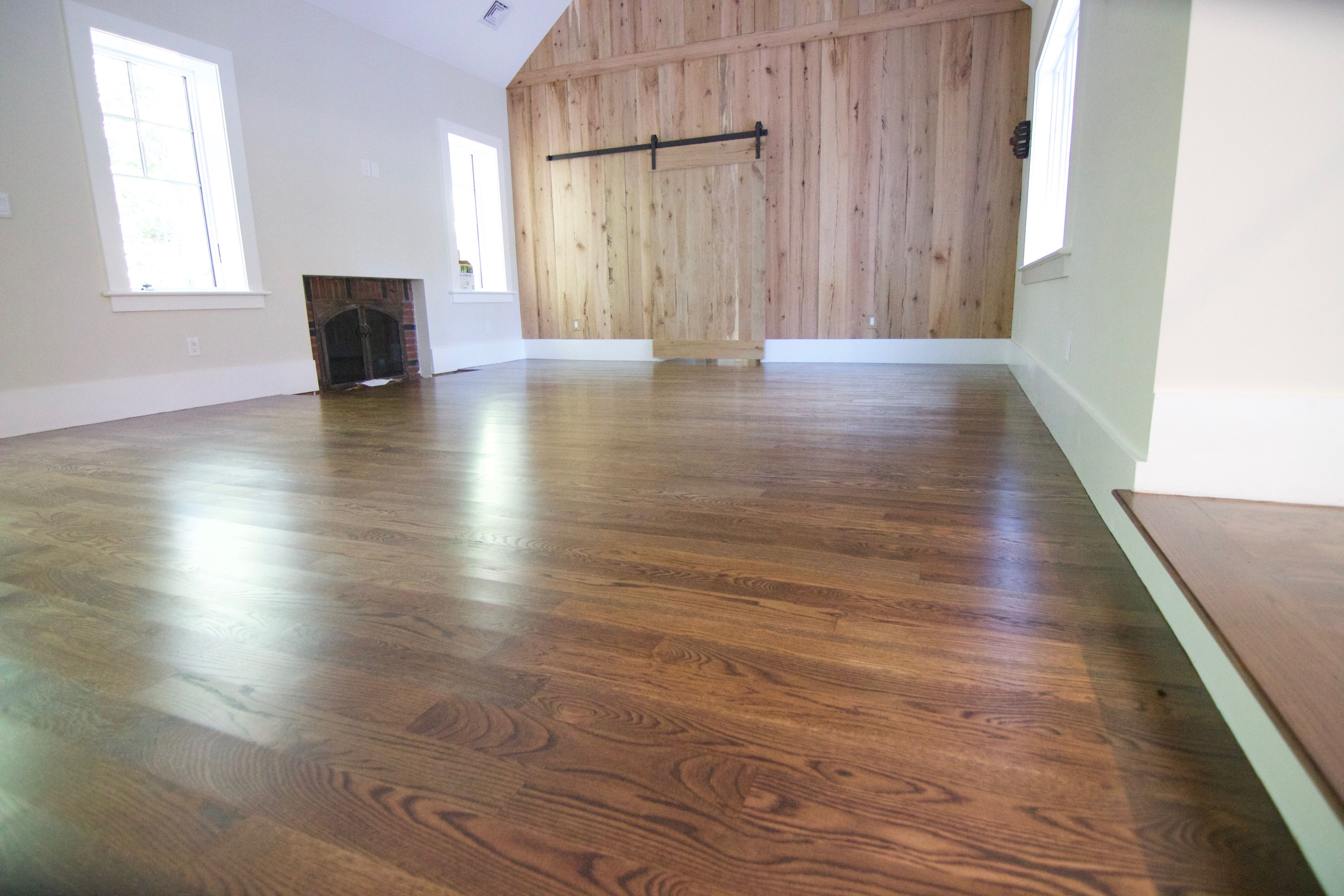 4 Quot White Oak With Minwax Dark Walnut Topcoated With 1