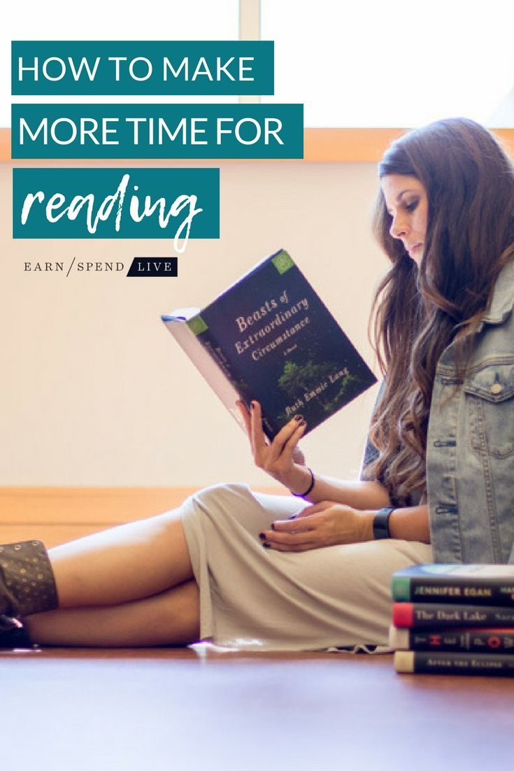 How to make more time for reading with images hobbies