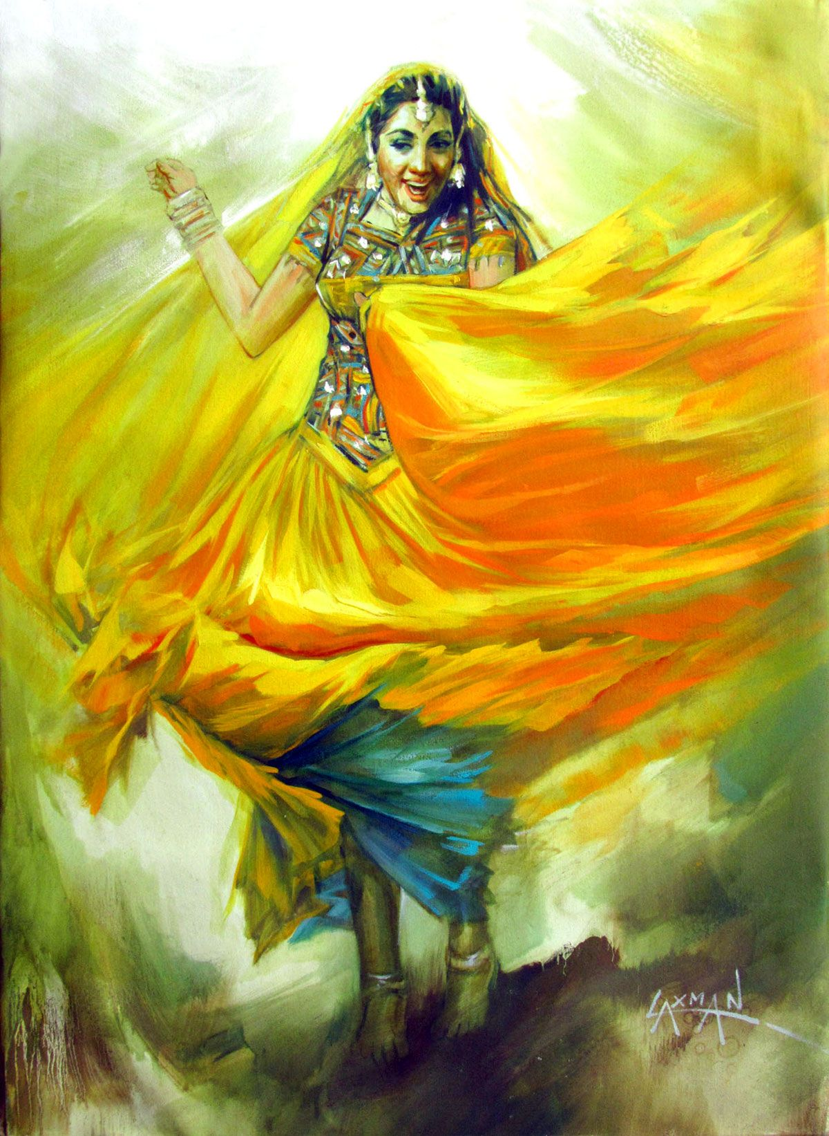 Laxman Kumar Google Search Indian art paintings, Dance
