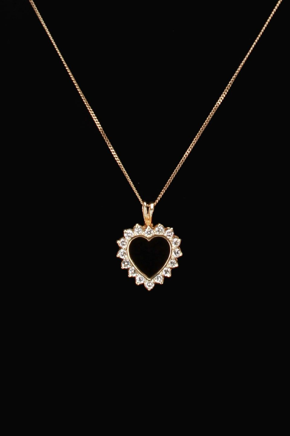 gold blowout 10k Yellow Gold & 0.65 ct Diamond Heart Pendant