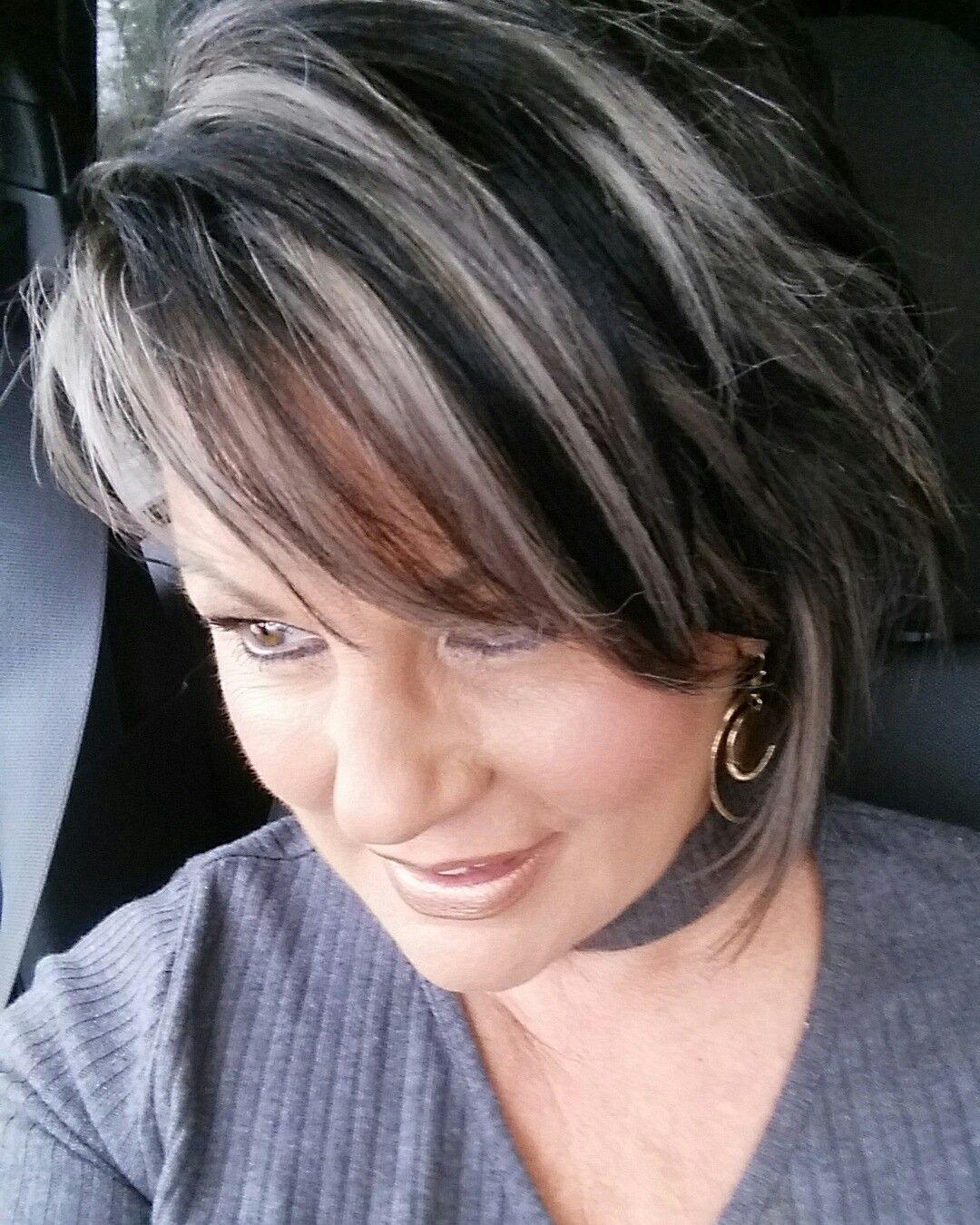 silver highlights pretty hair