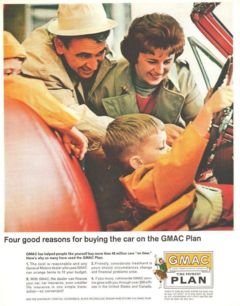 1964 Ad Gmac Car Buyers Plan Family General Motors Finance Print