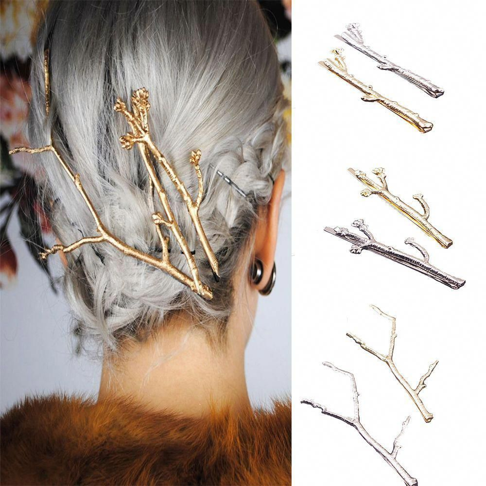 Metal Tree Branch Hairpins Gold Silver Hair Clip For Women Girl Bobby Pins  2Pcs  metaltrees 7ecbd6ec5