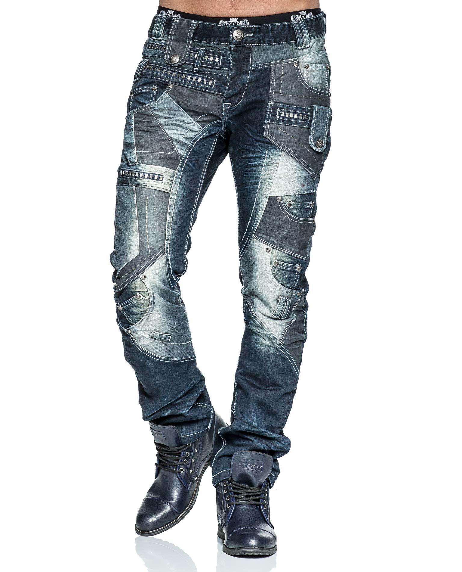 87748b69976bb JAPRAG dark blue jeans. Bold details. Decorative pockets
