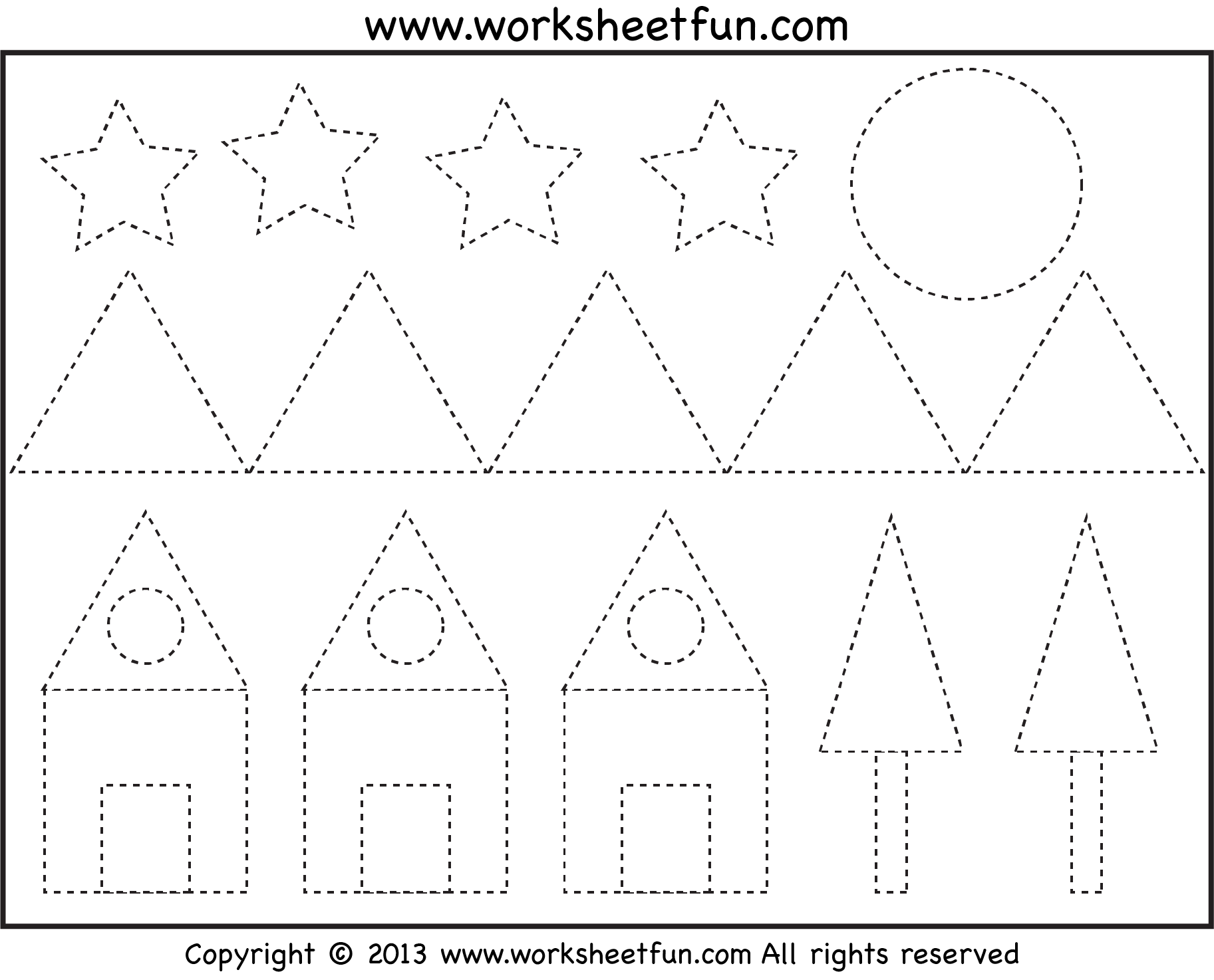 FREE Picture Tracing Shapes PreK Kindergarten Not that a – Shape Tracing Worksheets