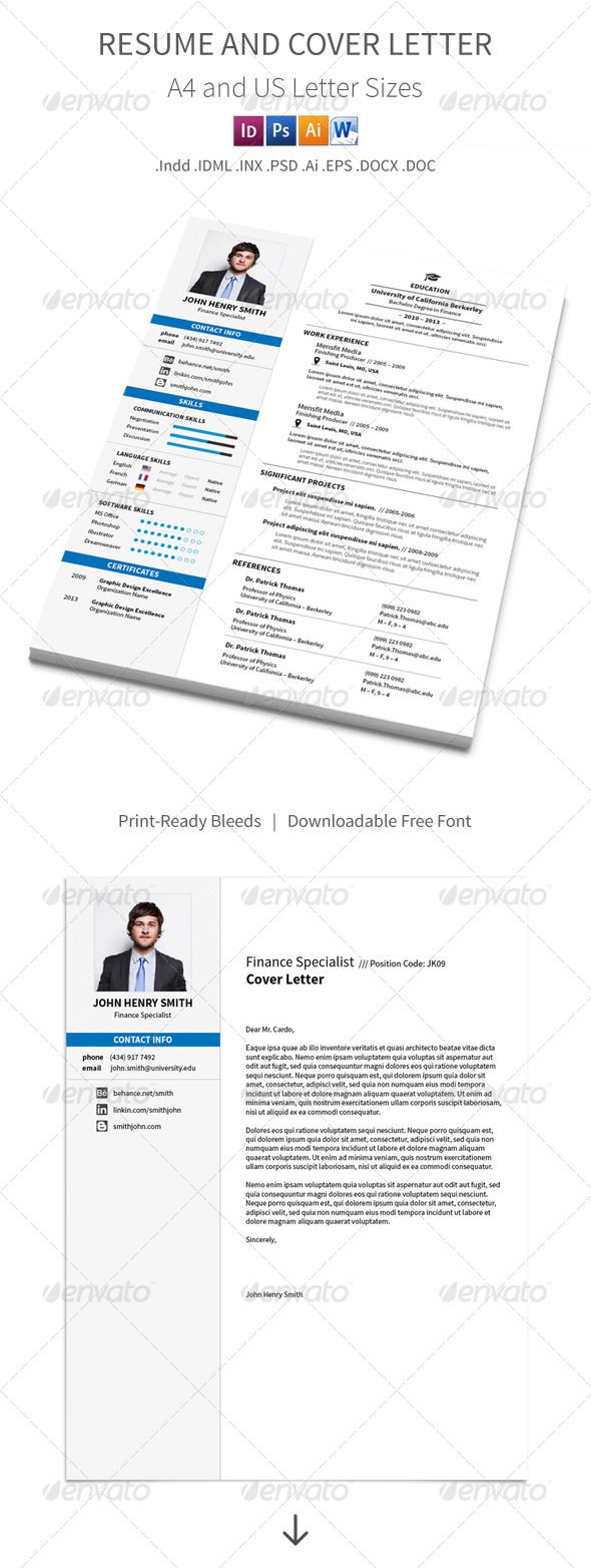 Resume And Cover Letter A4 And Letter Sizes Letter Size - Resume Size Letter Or A4
