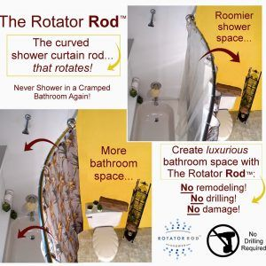 Shower Curtain Rod No Drilling