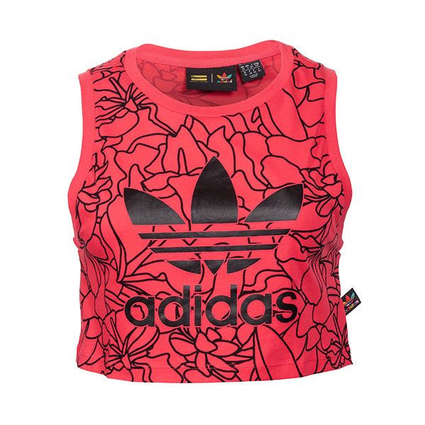 cfea9e861e5034 Women s adidas Dear Baes Crop Tank ( 35) ❤ liked on Polyvore featuring tops