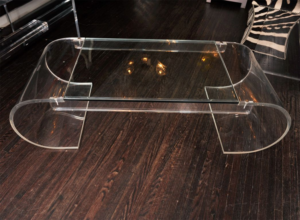 Curved Acrylic Coffee Table Coffee Table Decorating Coffee