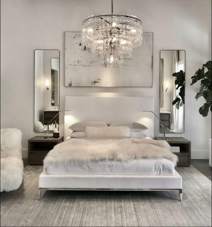 Pin By Klarissa Hernandez On Bedroom Ideas In 2020 White Bedroom Decor Simple Bedroom Design Luxurious Bedrooms