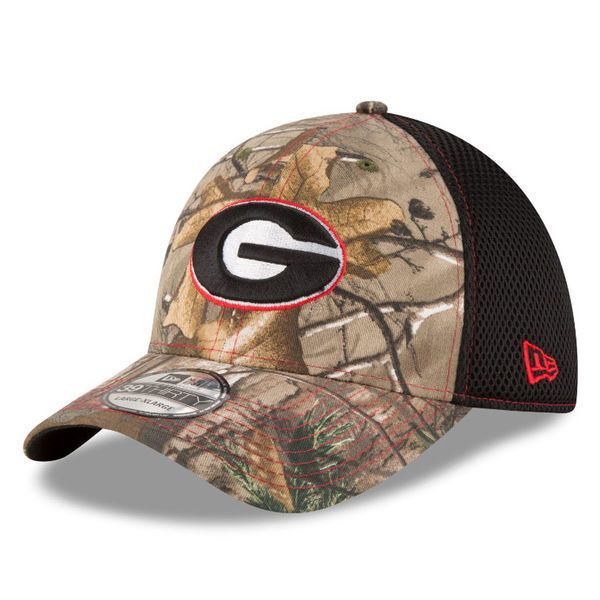outlet store dfb2f 57248 Georgia Bulldogs New Era Neo 39THIRTY Flex Hat - Realtree Camo Black,  24.99