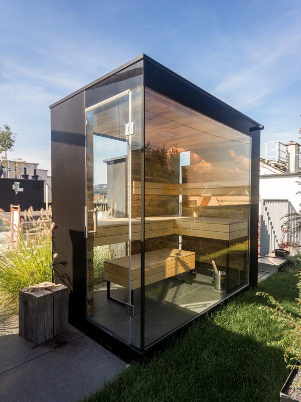sauna auf dachterrasse sauna pinterest dachterrassen. Black Bedroom Furniture Sets. Home Design Ideas