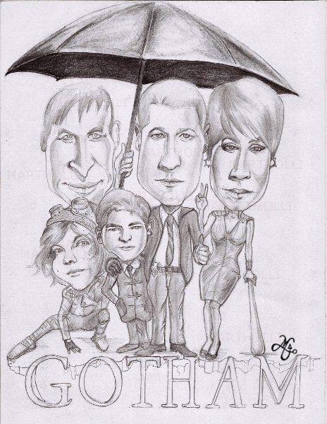 Série Gotham (caricatura-lápis sobre Canson)