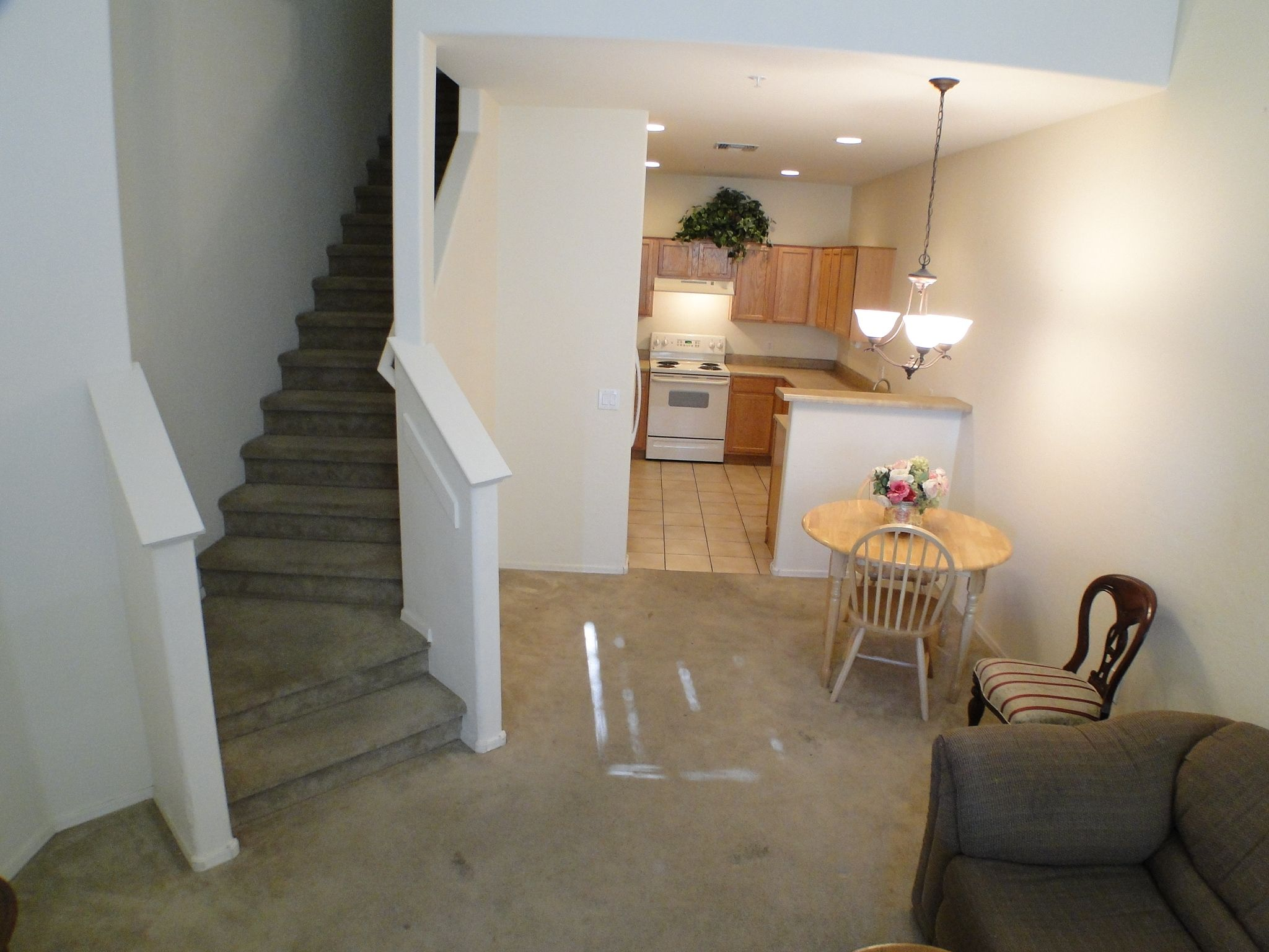 Master bedroom on first floor  Great townhouse for an excellent price in the highly desired gated