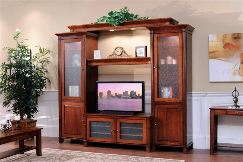 Amish Arlington Modular Entertainment Center Wall Unit